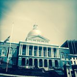 Massachusetts State House, Beacon Hill, Boston Stock Photo