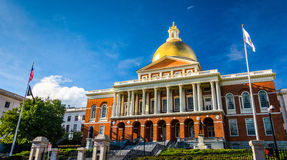 The Massachusetts State House in Boston. Stock Photo