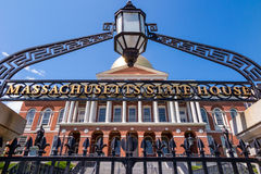 The Massachusetts State House in Boston. Royalty Free Stock Photo