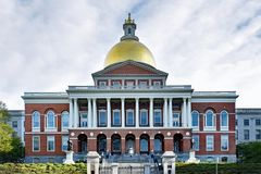 Massachusetts State House in Boston MA royalty free stock photography