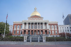 The Massachusetts State House in Boston, MA. Stock Photos