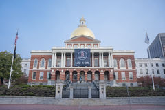The Massachusetts State House in Boston, MA. Royalty Free Stock Photography
