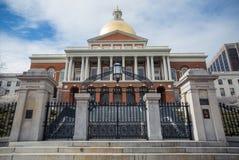 Massachusetts State House in Boston. Stock Photo