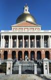 Massachusetts State House exterior morning light. The Massachusetts state house located on the Boston Commons in Boston Massachusetts in the morning sunlight stock images