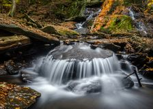 Massachusetts stream long exposure royalty free stock image