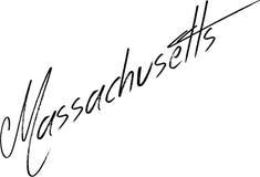Massachusetts-Textzeichenillustration Stockfoto