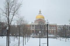 Massachusetts tillståndshus i Boston, USA på December 11, 2016 Royaltyfri Bild