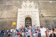 Massachussets-turismo al museo del Vaticano a Roma immagini stock libere da diritti