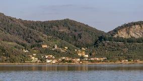Massaciuccoli auf dem homonymen See, Versilia, Lucca, Toskana, Italien lizenzfreie stockfotos