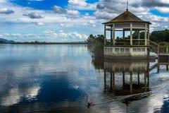 Massaciuccoli jezioro, Torre Del Lago, Tuscany Włochy zdjęcia stock