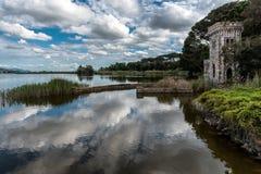 Massaciuccoli jezioro, Torre Del Lago, Tuscany Włochy zdjęcia royalty free