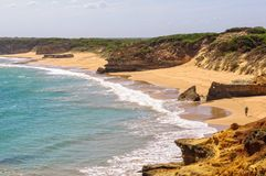 Massacre Bay - Bay of Martyrs. Beautiful sandy beach of Massacre Bay - Bay of Martyrs, Victoria, Australia Royalty Free Stock Image
