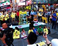 Massacre chimique en Syrie - anniversaire de 2 ans (New York) Photographie stock libre de droits