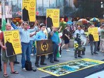 Massacre chimique en Syrie - anniversaire de 2 ans (New York) Images stock
