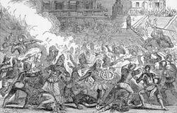 Massacre in Cholula Royalty Free Stock Images