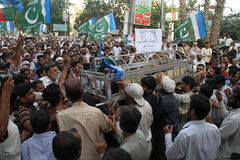 Massacre du PAKISTAN Images libres de droits