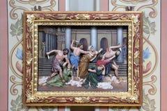 Massacre of the Innocents. Altarpiece in church of Saint Matthew in Stitar, Croatia Stock Photography