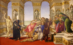 Massacre of the Innocents. Oil painting of Massacre of the Innocents in Bethlehem. Uffizi Gallery, Florence, Tuscany, Italy Royalty Free Stock Photos