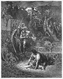 The Massacre of the Innocents. Picture from The Holy Scriptures, Old and New Testaments books collection published in 1885, Stuttgart-Germany. Drawings by Royalty Free Stock Photos