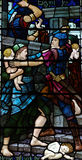 Massacre of the Innocents. A stained glass photo of the massacre of the innocents Royalty Free Stock Photography