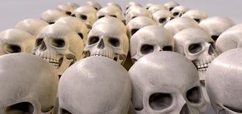 Massacre Of Skulls Stock Photo