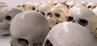 Massacre Of Skulls Stock Photo