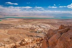 Massada联合国科教文组织在死海附近的世界遗产在以色列 库存图片