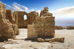 Massada fästning i Israel arkivfoton