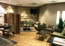 The Massada Lounge inside the Ben Gurion Airport. TEL AVIV, ISRAEL - MAY 10, 2018: The Massada Lounge inside the Ben Gurion Airport Royalty Free Stock Image