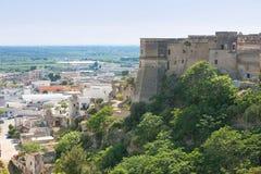 Massafra, Apulien - Besuchen des gigantischen Bollwerks von Massafra lizenzfreies stockbild
