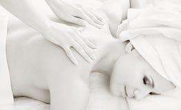 Massag profissional monocromático fotos de stock royalty free