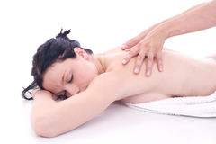 Massage. Pleasure in massage Royalty Free Stock Photo