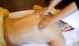 massage royaltyfria bilder