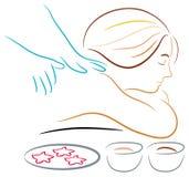 Massage stock illustratie