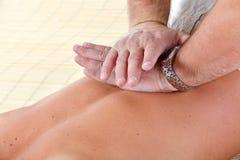 massage royaltyfri bild