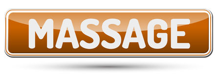 MASSAGE - Abstrakt härlig knapp med text Arkivfoto
