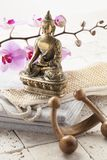 Massage accessories at ayurvedic spa Stock Photo