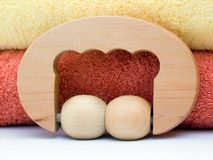 Massage Accessory. Wooden massage tool Royalty Free Stock Photography