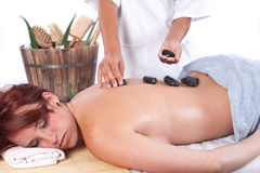 Massage with aloe Stock Photography