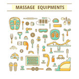 Massage appliance - Icon set Royalty Free Stock Images