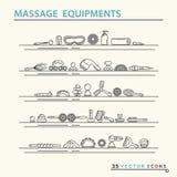 Massage appliance - Icon set Royalty Free Stock Image