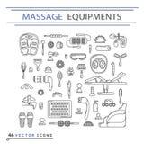Massage appliance - Icon set Stock Photo