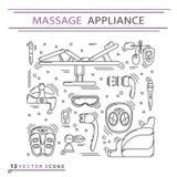 Massage appliance - Icon set Stock Photography