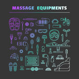 Massage appliance - Icon set Stock Photos