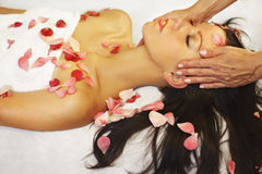 Massage and aromatherapy Stock Images