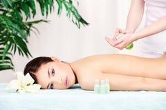 Massage arrière Photographie stock