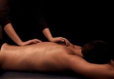 Massage arrière images stock