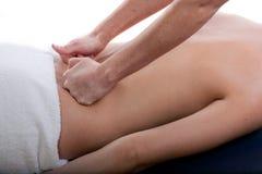 Massage arrière photo stock