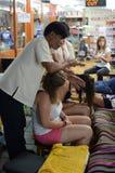 Massage auf Straßen von Bangkok lizenzfreies stockfoto