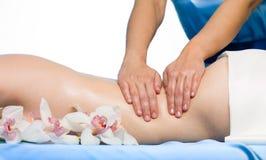 Massage on back Stock Image